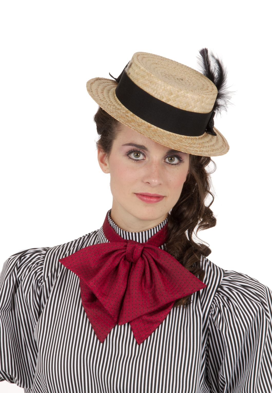 6221ccdc252 Gibson Girl Victorian Straw Hat By Recollections