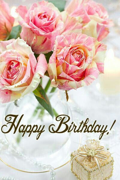 Happy Birthday Rose Graphic With Images Beautiful Flowers
