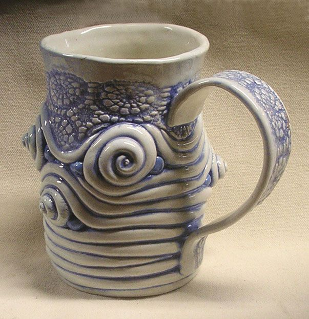 Kathy Jeffers Coiled And Textured Mug Teapots And