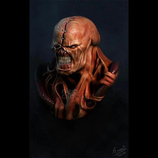 Zbrush Nemesis From Resident Evil Resident Evil Evil Skeletor