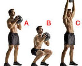 Squat N Press Medecine Ball Entrainement Complet Musculation