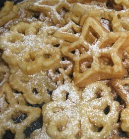 """old fashioned """"cookie"""" (I think the cast iron rosette irons ones work the best!)"""