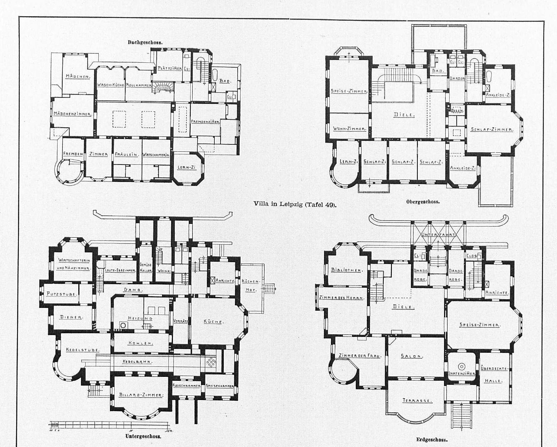 Villa in Leipzig, Schwägerichenstr. 23 Architekten Peter
