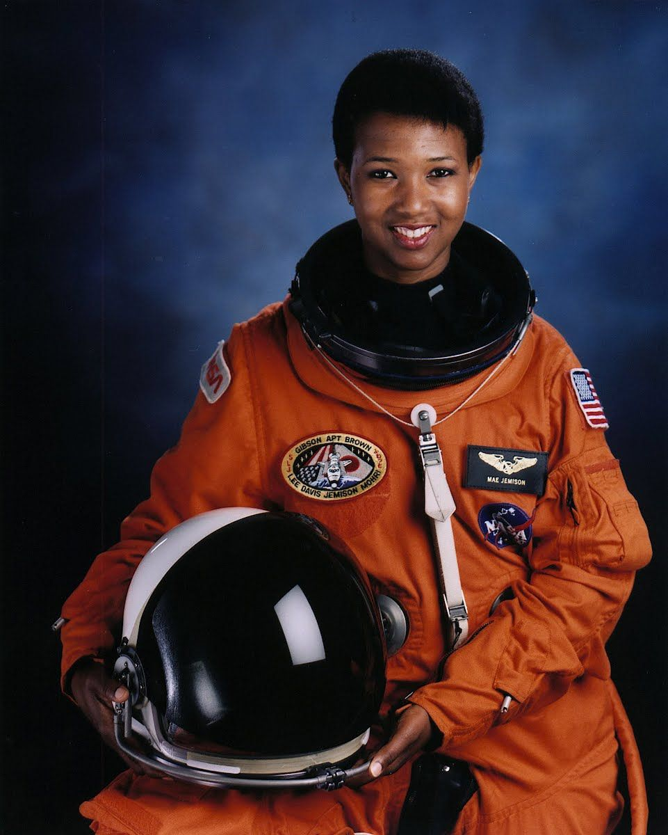 First black female astronaut, Mae C. Jemison, 1992 ...