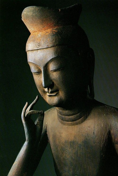 """Maitreya Buddha, the best of men, will then leave the Tushita heavens, and go for his last rebirth into the womb of that woman. He will emerge from her right side, as the sun shines forth when it has prevailed over a bank of clouds ..he will fill this entire Triple world with his splendor. He will raise his eyes to the ten directions, and will speak these words: """"This is my last birth. There will be no more rebirth after this one. Never will I come back here, but, all pure, I shall win…"""