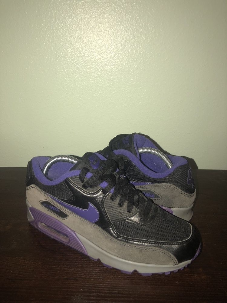 91e929287db8 Nike Air Max 90 women size 8.5 Purple Black Grey  fashion  clothing  shoes   accessories  womensshoes  athleticshoes (ebay link)