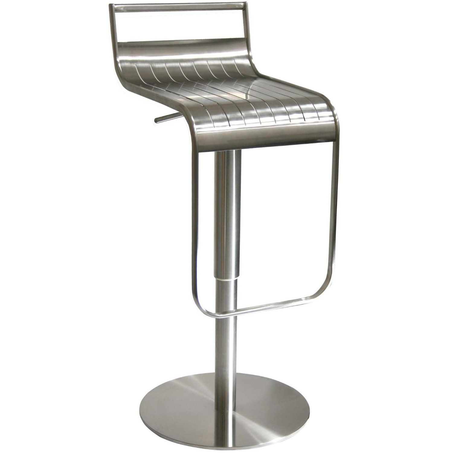 Found it at AllModern AmeriHome Adjustable Height Swivel Bar Stool AmeriHome Stainless Steel Bar Stool With Back Rest