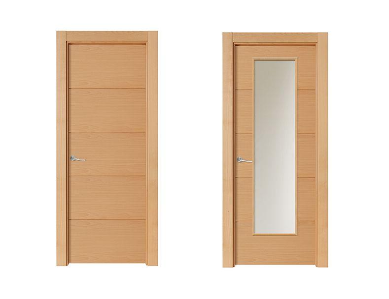 Puerta de interior clara modelo misuri de la serie tempo for Modelos de puertas de madera