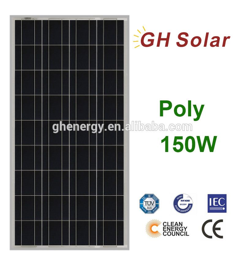 Poly Solar Panel 12 Volt 150w Cigs Solar Panel For Led Light Solar Module Solar Solar Panels For Home
