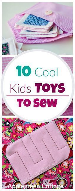 Make a perfect DIY present for kids from these 10 free tutorials and patterns for fun kid toys to sew. Beginner sewing tutorials and free sewing patterns. #beginnersewingprojects