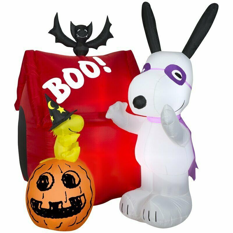 HALLOWEEN 5 FT GHOSTBUSTERS STAY PUFT PUMPKIN GEMMY  Airblown Inflatable