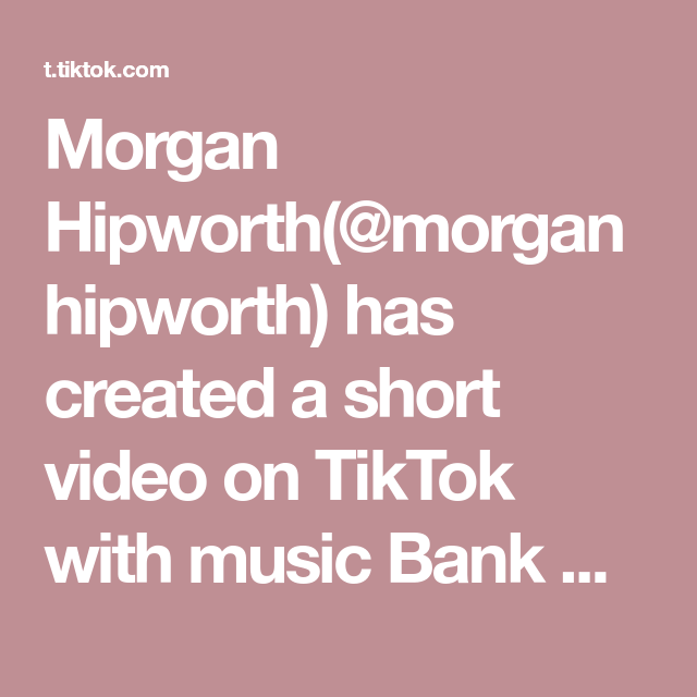 Morgan Hipworth Morganhipworth Has Created A Short Video On Tiktok With Music Bank Account Taco Tuesday Never Looked In 2020 Food To Make Taco Tuesday Bank Account