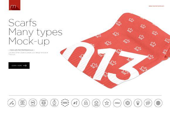 Download 12different Views Of Scarves Mock Up By Mesmeriseme On Creative Market Mocking Mockup Mockup Templates