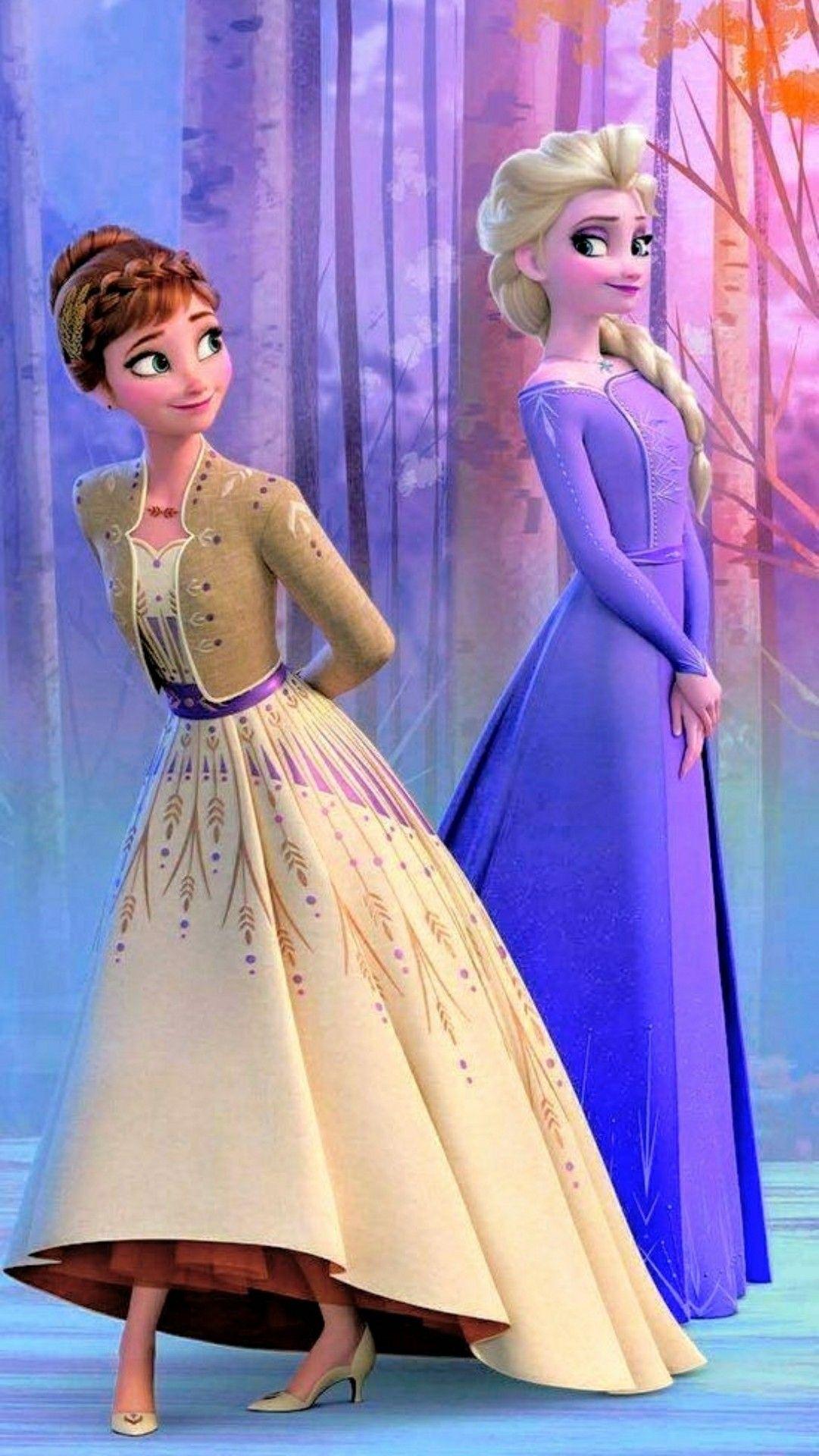 Frozen 2 Wallpaper Anna And Elsa Disney Princess Wallpaper Disney Princess Fashion Disney Princess Frozen