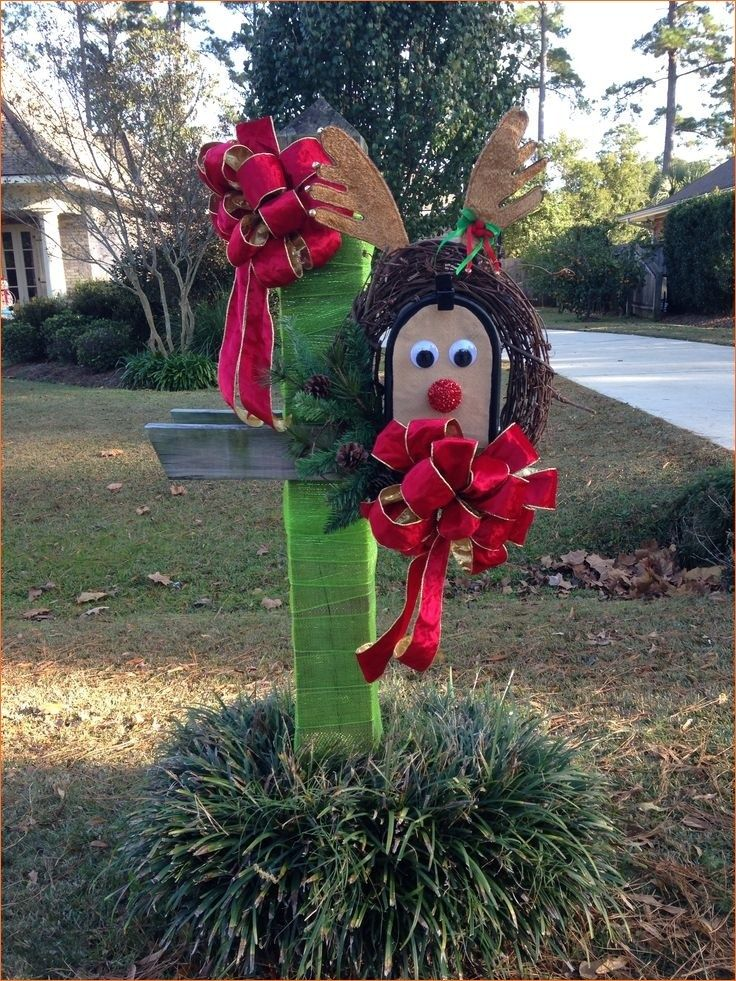 34 Sweetness Mailbox Christmas Decorating To Impress Your