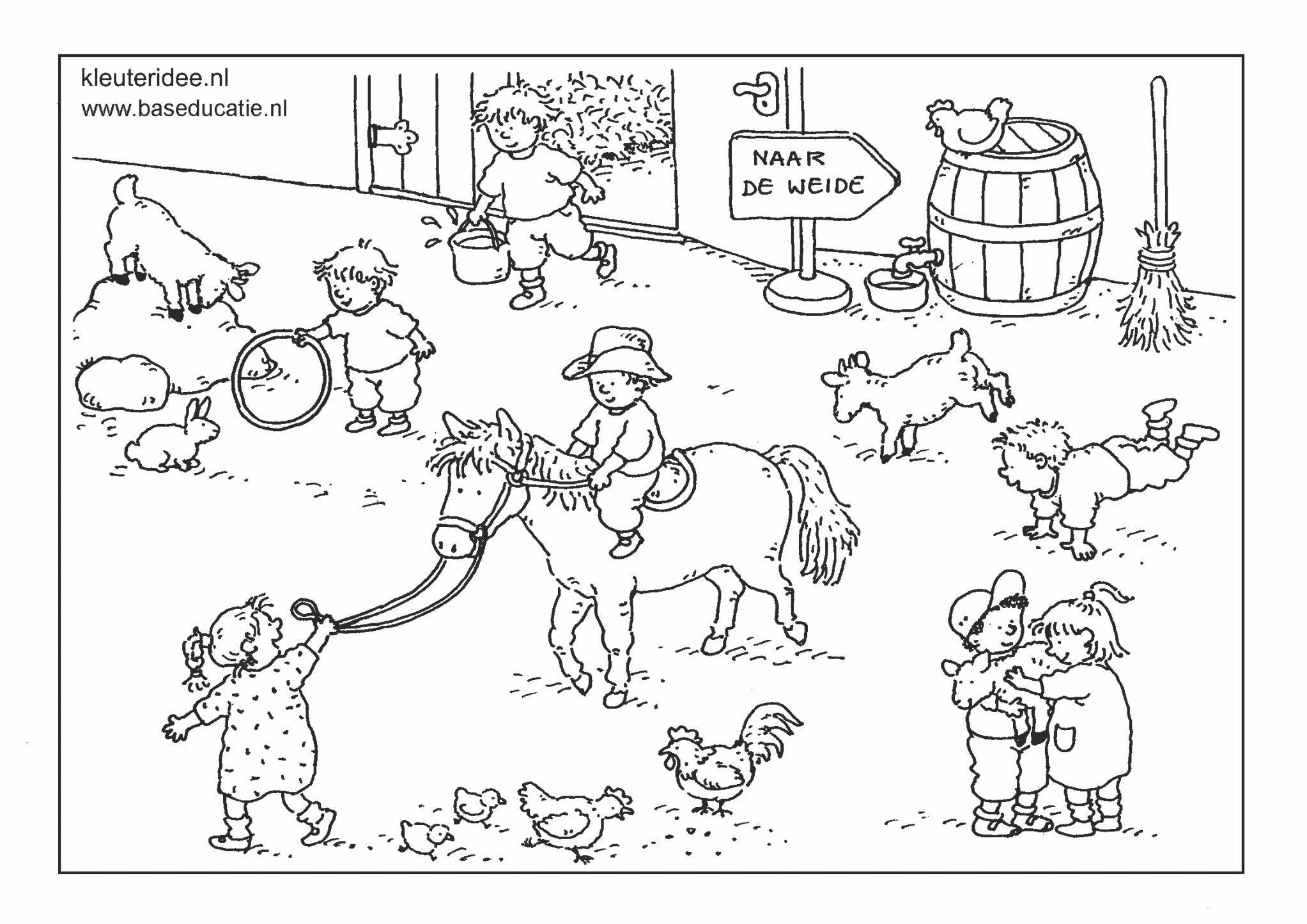 Gedeeld Met Dropbox Kinderboerderij Kleurplaten Boerderijdieren
