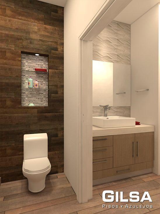 Cuarto de baño. Estilo - Contemporáneo. Materiales utilizados ...
