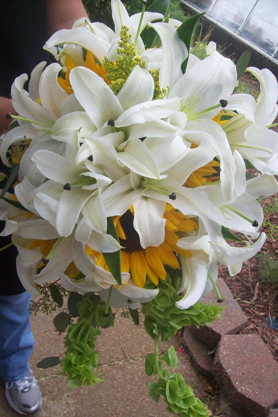 Gorgeous White Lily Amp Sunflower Wedding Bouquet