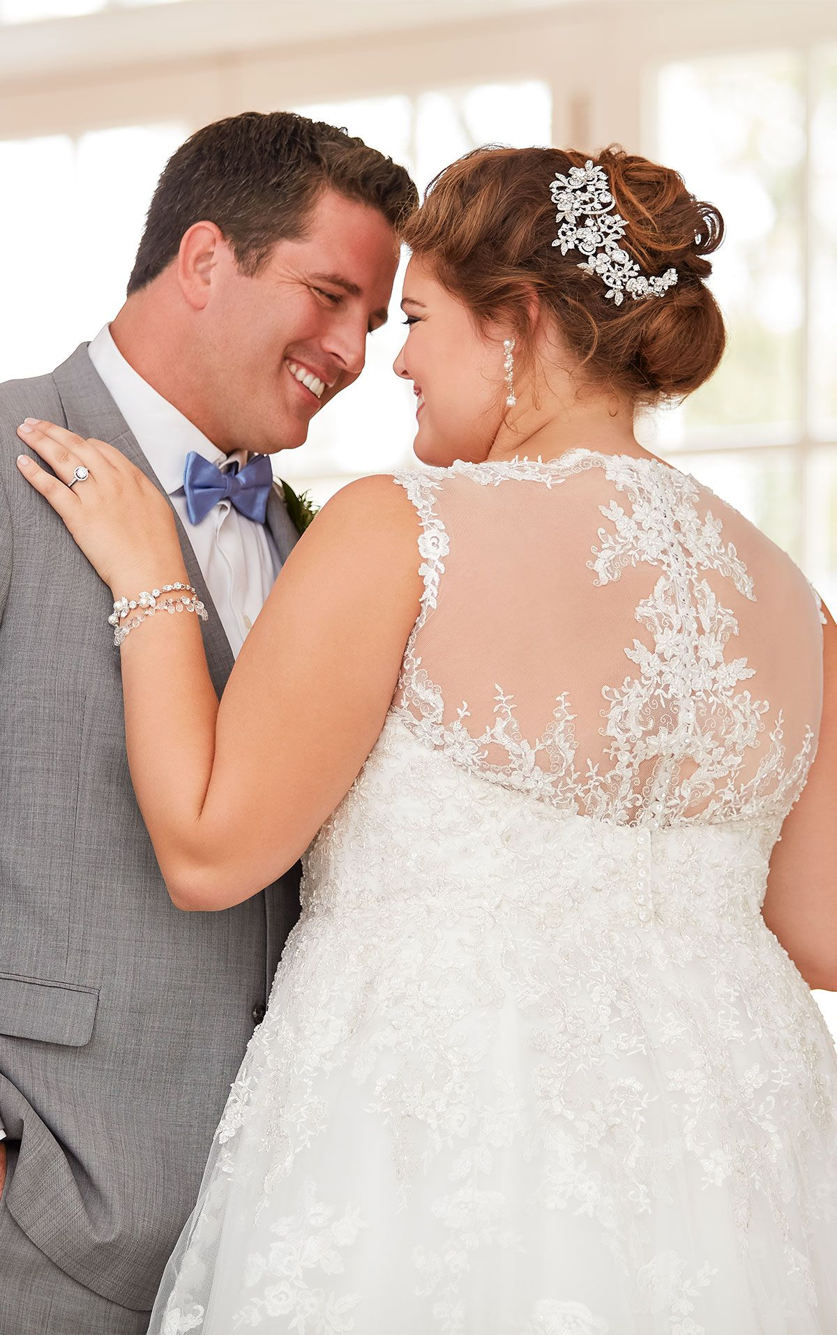 How much to alter wedding dress  Lace plus size wedding dress with illusion back  wedding Dresses
