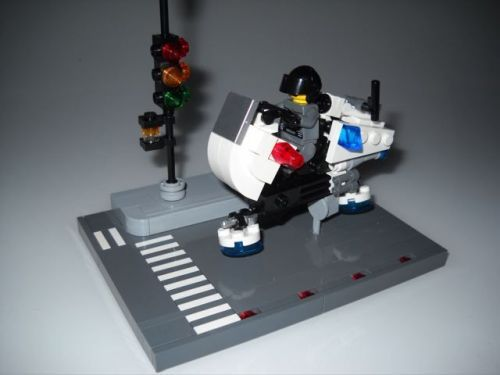 Space Police Patrol Hover Bike A Lego Creation By Nick Brick Mocpages Com Lego Creations Lego Space Police Lego Spaceship