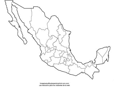 Mapas de México para imprimir | Tejidos | Pinterest | Mapa de mexico ...