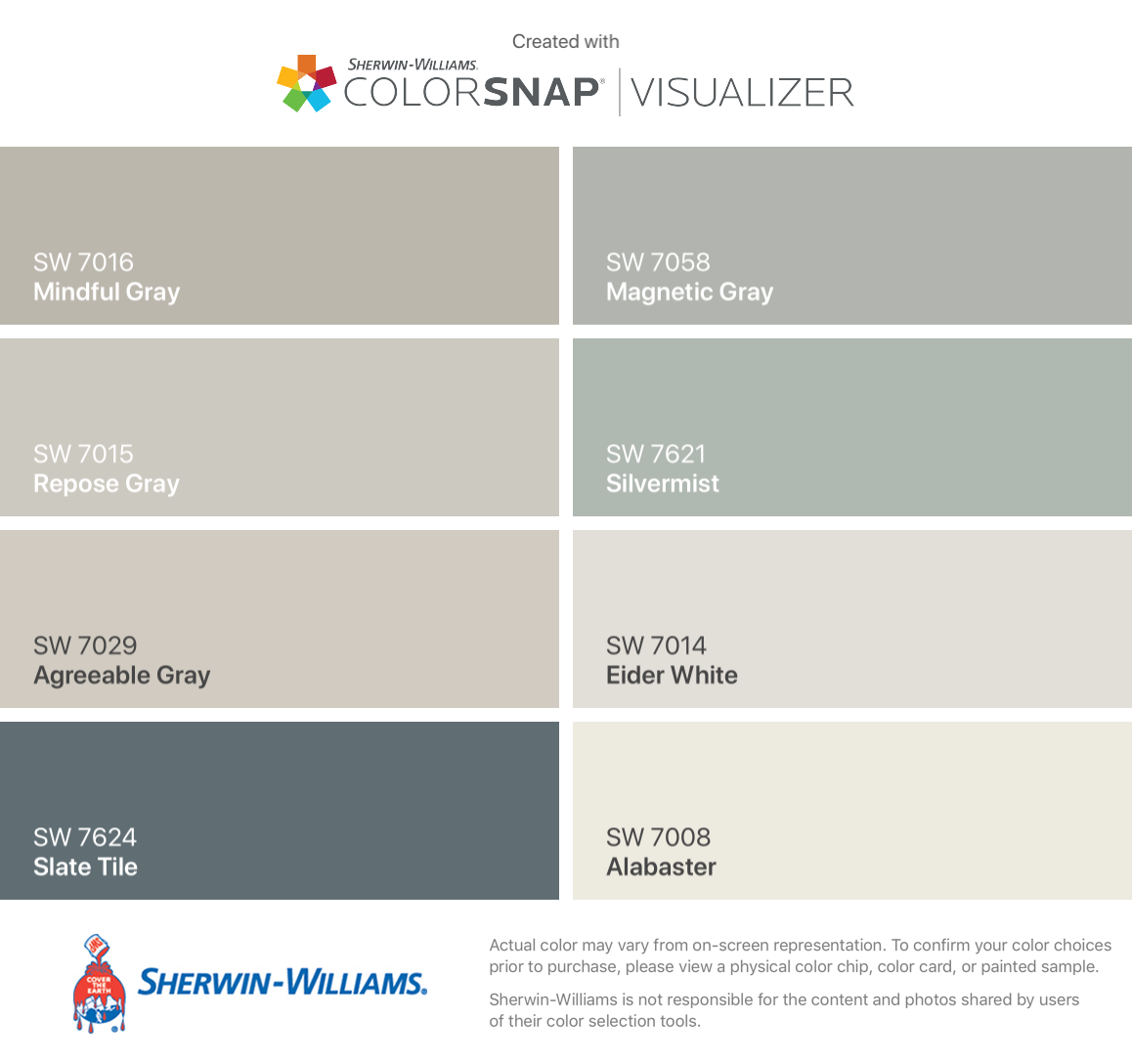 Image Result For Sherwin Williams Slate Tile With Agreeable Gray Sherwin Williams Colors Paint Colors For Home Comfort Gray