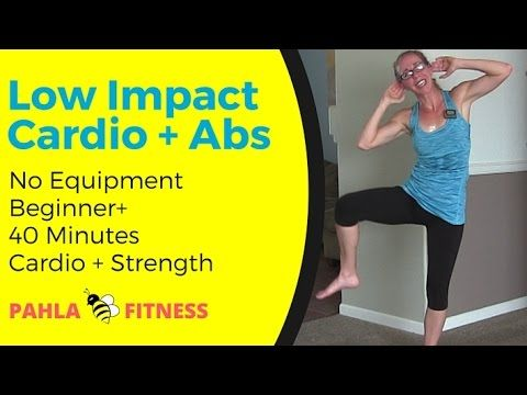 low impact cardio  standing abs metcon home workout  no