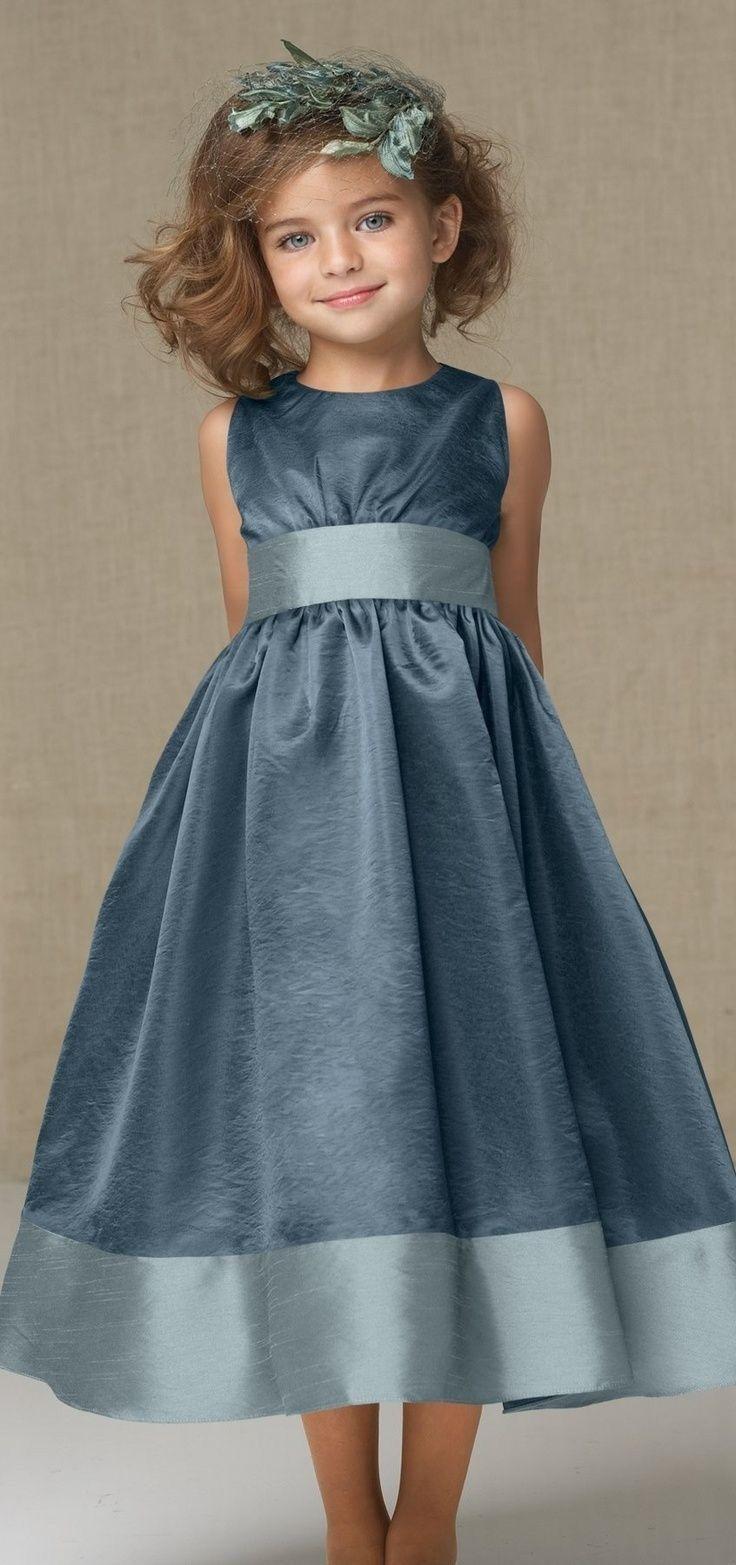 Park Art|My WordPress Blog_Flower Girl Dress With Dusty Blue Sash