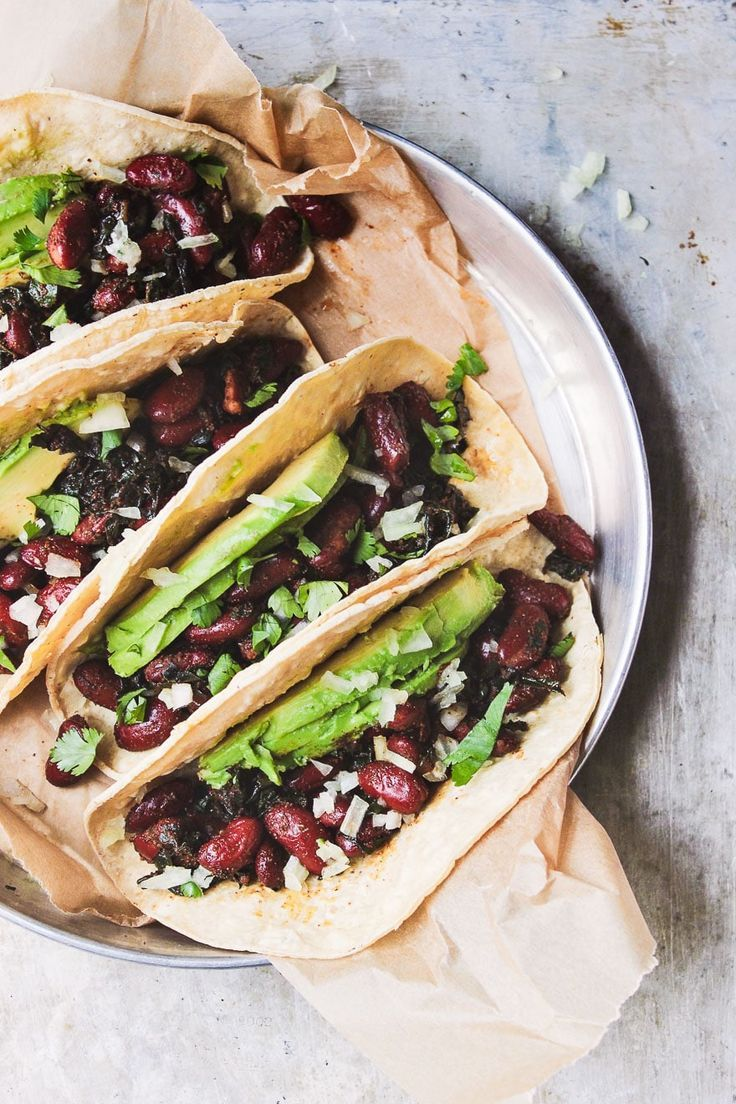 Kidney bean and kale tacos recipe healthy recipes