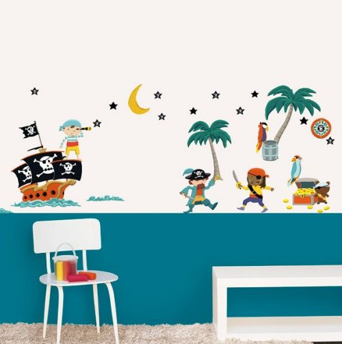 Pirates decorative wall stickers nouvelles images gifts for youngins - Stickers nouvelles images ...