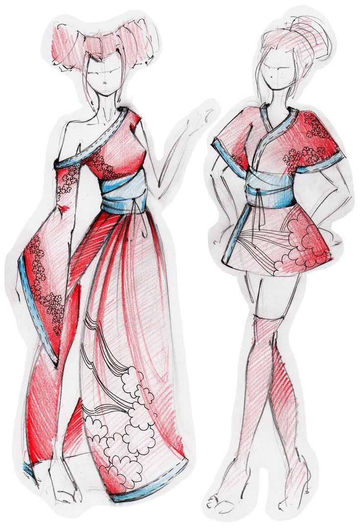 Интересные костюмы рисунки