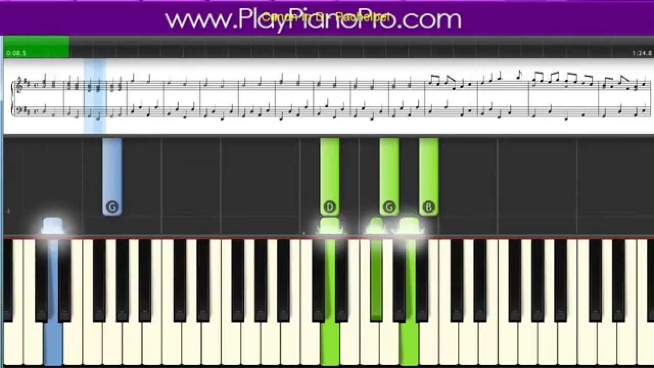 How To Play Pachelbel S Canon In D Play Piano Pro Tutorial Hd
