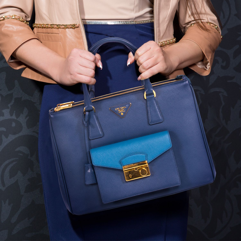 2e0bb0339756 Shop authentic Prada Saffiano Lux Tote Cargo at revogue for just USD ...