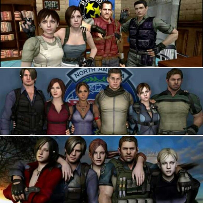 Resident Evil Obsession With Resident Evil 1 5 6 Characters