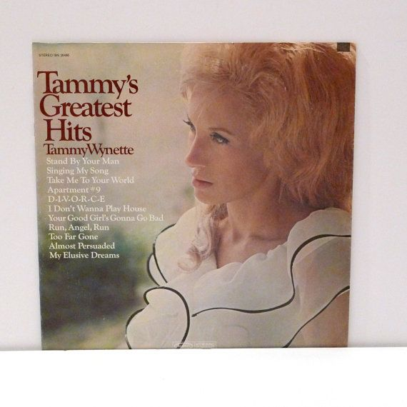Tammy Wynette Vinyl Record Al Greatest Hits Country And Western Stand By Your Man Singing My Hitsapartment 9vinyl