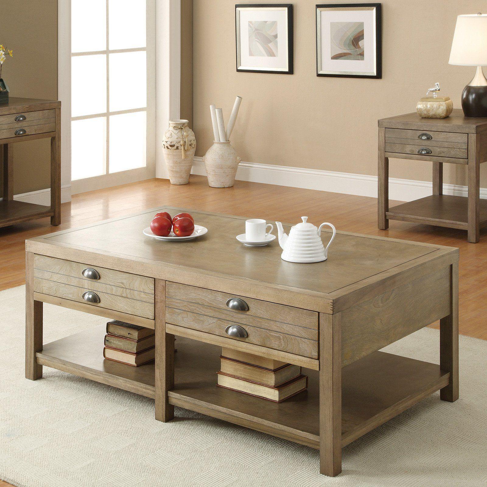 Coaster Furniture Light Oak Coffee Table Coffee Table Home Coffee Tables Coffee Table With Drawers [ 1600 x 1600 Pixel ]