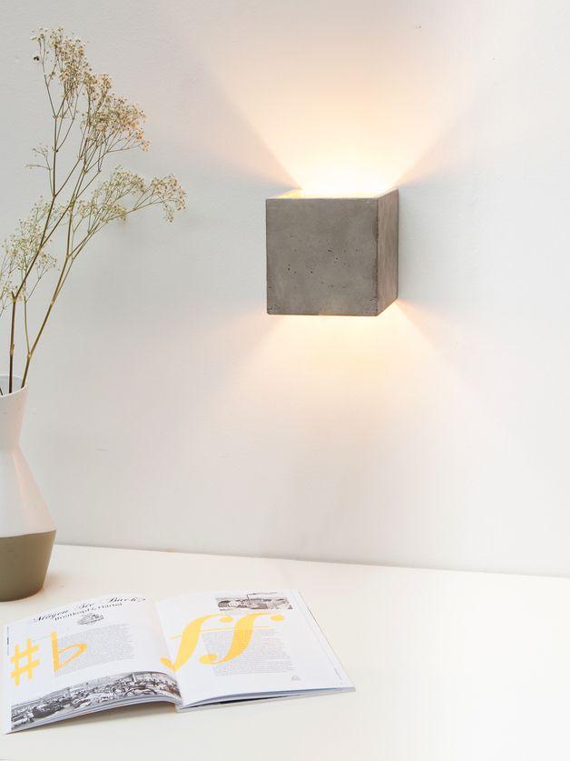 Wandleuchten   Beton Wandlampe [B3] Indirekte Beleuchtung Gold   Ein  Designerstück Von GANTlights Bei DaWanda