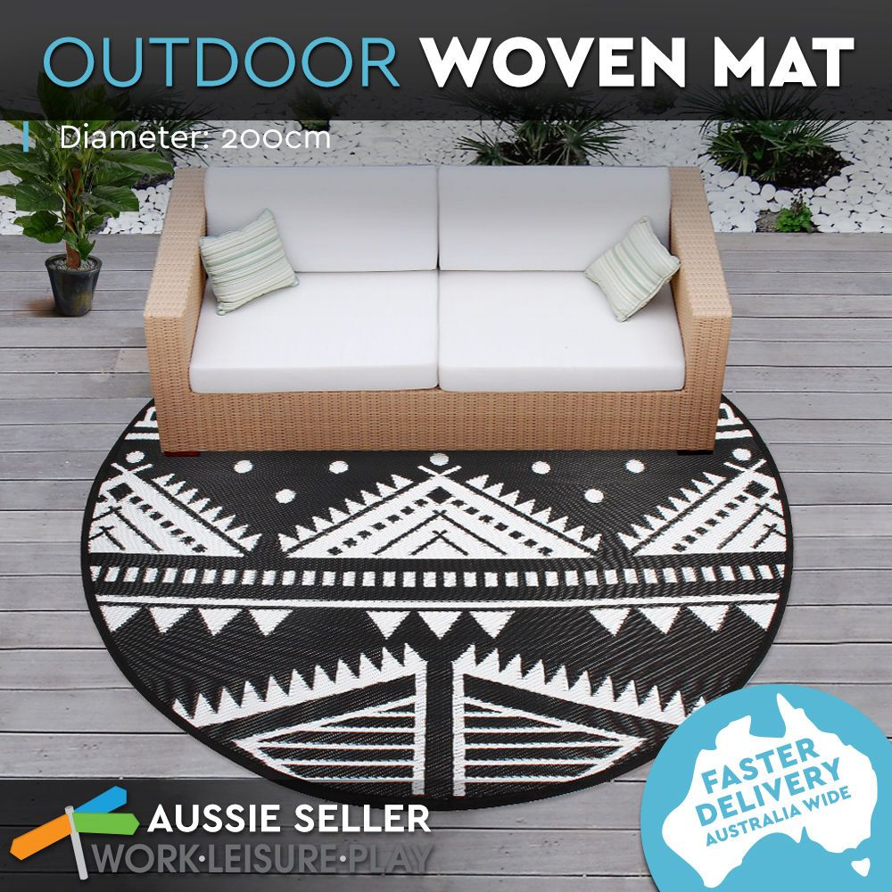 Outdoor Plastic Rug Mat Recycled