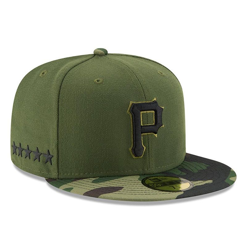 online retailer 3bd2f 2ff38 Pittsburgh Pirates New Era 2017 Memorial Day 59FIFTY Fitted Hat - Green