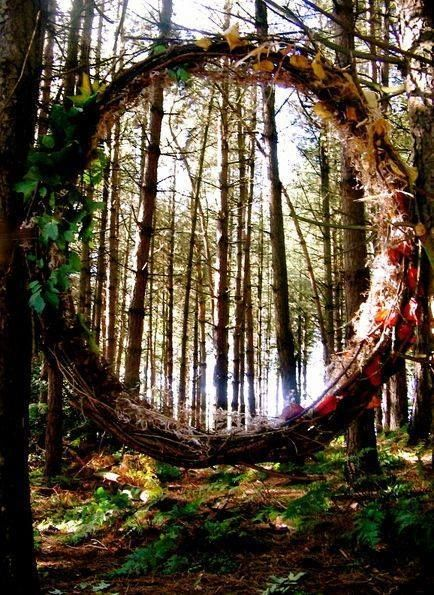 Make two portals in the woods.  Those who know the game will love it!