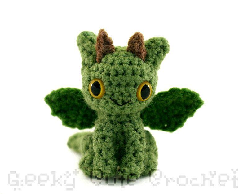 Dragon Amigurumi - Crocheted Plush. $16.00, via Etsy.