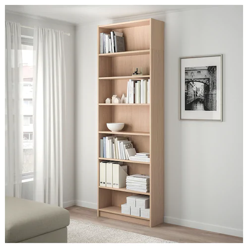 Billy Bookcase With Height Extension Unit White Stained Oak Veneer 80x28x237 Cm Ikea Ireland Bookcase Billy Bookcase Ikea