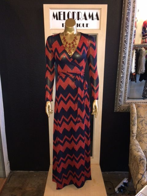 Zig Zag print maxi dress!