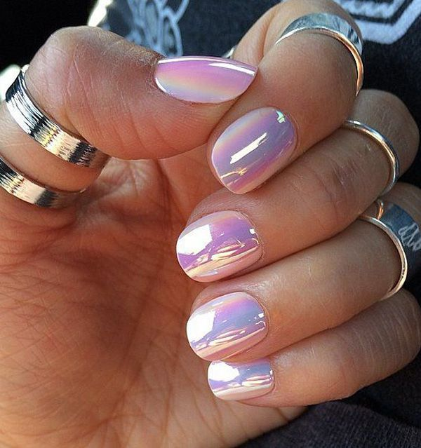 Cotton candy themed watercolor nail art design. Use cotton candy hues such  as light pink - 50+ Watercolor Nail Art Ideas Periwinkle Blue, Cotton Candy And
