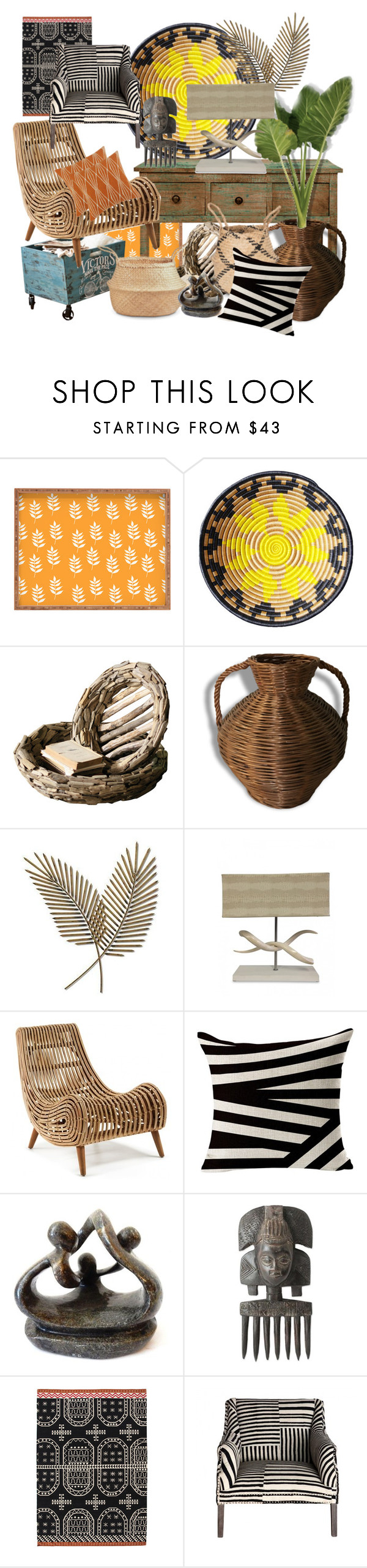 """""""You don't have to travel the world...but it helps"""" by lvoth ❤ liked on Polyvore featuring interior, interiors, interior design, home, home decor, interior decorating, Dot & Bo, Indego Africa, Jarre and Korg"""