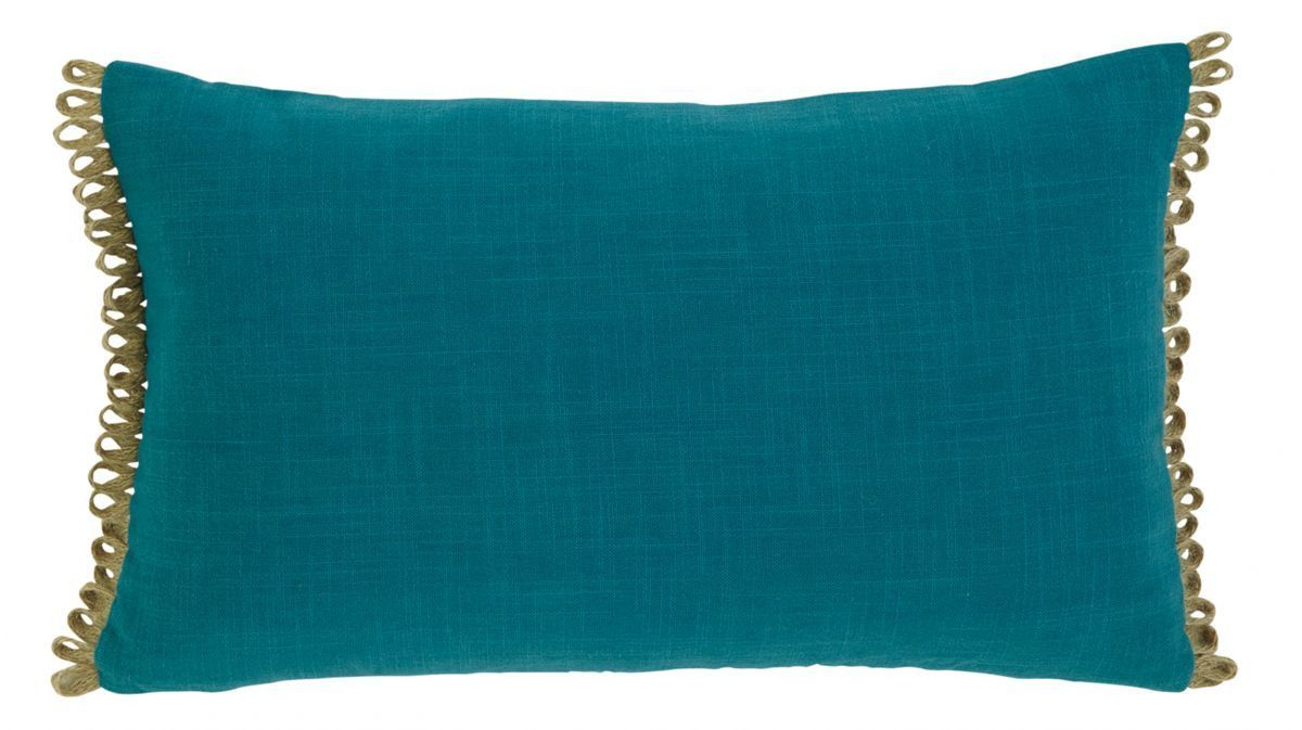 Solid Turquoise Accent Pillow