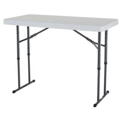 Lifetime Products Adjustable Height Folding Table 4 Feet 80160 Home Depot Canada Adjustable Height Table Folding Table Folding Table Legs