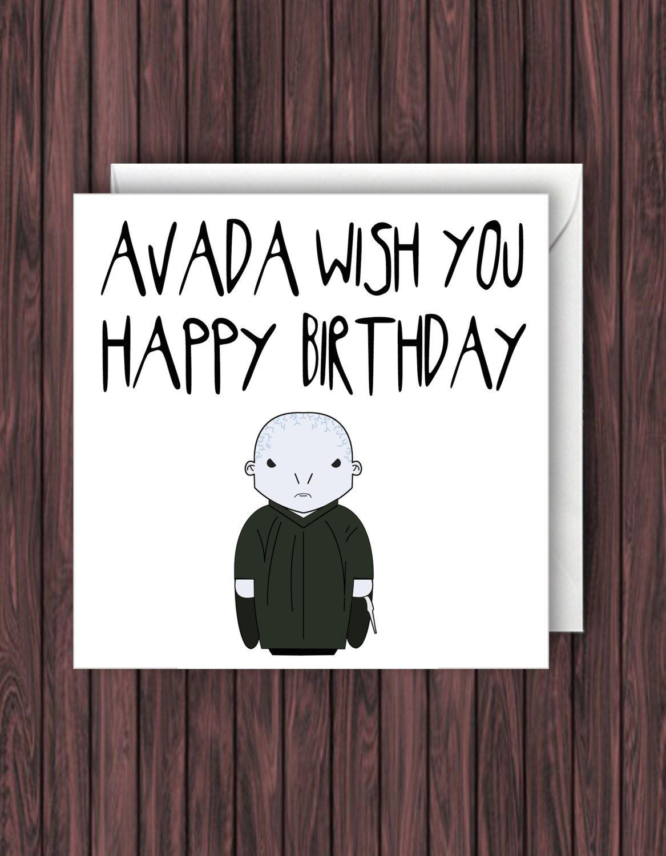 Harry Potter Birthday Card Funny Greetings Geek Blank