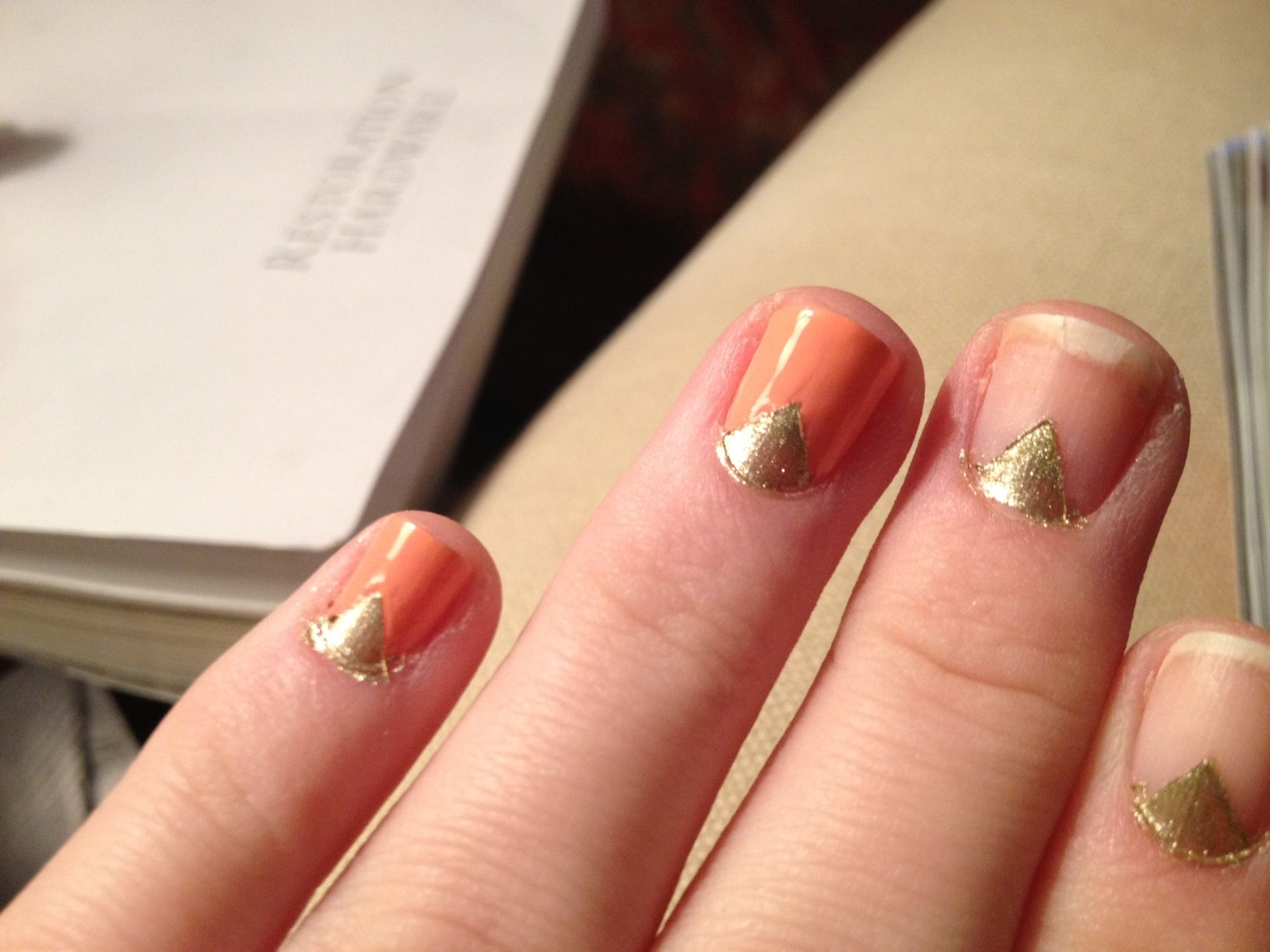 DIY nail design - essie in Tart Deco and color club in Disco Nap ...