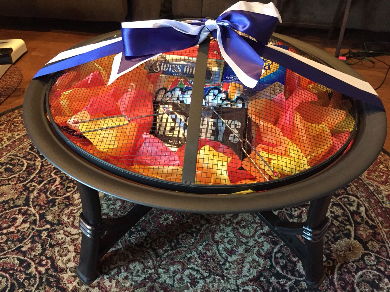 Fire pit s'more fundraiser badket | Fire pit gift basket ...